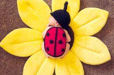 Crochet Newborn Ladybug Photography Set on Etsy, $50.00 Rosy CroChic