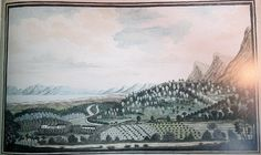 zvt-historical maps 01 JF april Steenberg and parts of False Bay by Johannes Schumacher 1776 - 1777 a water-colour on paper. Old Maps, Historical Maps, Present Day, Cape Town, South Africa, Schumacher, History, Water, Google