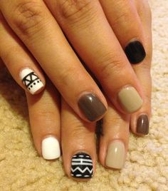 2013 nail trends neutrals I like them even though my husband thinks they are weird