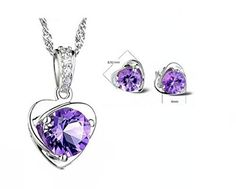 Sterling Silver Purple Austria Crystal Stud necklace and Earrings for Women Fashion Jewelry set Merry Harry http://www.amazon.co.uk/dp/B00Q1D8Y1M/ref=cm_sw_r_pi_dp_avjevb09T5S5W