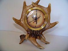Slifka Wildlife Deer Antler Mantel Clock  #Antler #Clock #Deer #Mantel #RusticMantelClock #Slifka #Wildlife The Rustic Clock
