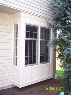 Box Bay Window - This style of window projects from the side of the home.