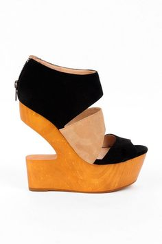 Dolce Vita DV8 by Dolce Vita Julia Open Wedges in Black Suede :: tobi