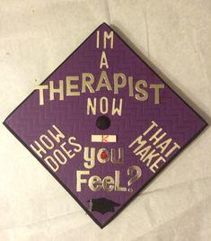 Graduation cap decorating. M.S. Counseling  MFT
