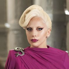 """Lady Gaga as the Countess on """"American Horror Story: Hotel"""" with costume design by Lou Eyrich. American Horror Story Hotel, American Horror Story Seasons, Kirsten Dunst, Lady Gaga Countess, Lady Gaga Makeup, Eye Makeup, Ahs Hotel, Rowan Blanchard, Sabrina Carpenter"""