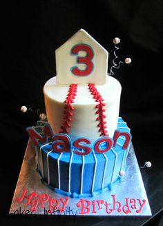 Baseball cake Oals Altland I know someone who will like this ; Pretty Cakes, Cute Cakes, Baseball Birthday Party, 9th Birthday, Birthday Cakes, Birthday Ideas, Sport Cakes, Cakes For Boys, Boy Cakes