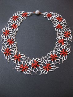 Fleur necklace by ssandeelee - Has chart to help with Beads Magic free pattern