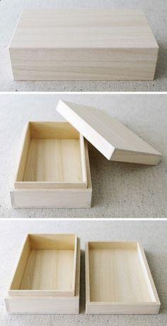 Caja de regalo de madera estilo japonés C tipo por karaku en Etsy