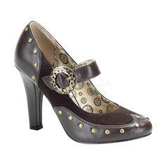 "steampunk 4"" victorian Mary Jane pumps"