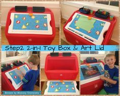 Step2 2-in-1 Toy Box and Art Lid Review check out the review of this great product from Mommy University at www.mommyuniversitynj.com