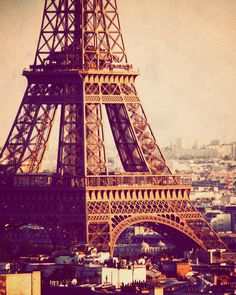 Paris photograph Eiffel Tower photo fine art travel by JourneysEye, $28.00