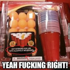 Not Intended With Alcohol ; Yeah Fing Right