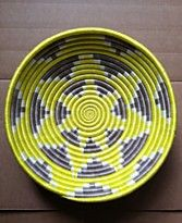 "Rwanda Basket, 12"" Bright Shine Fruit Bowl"