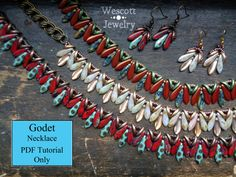 Pattern for Godet Necklace with Crescent Beads by WescottJewelry