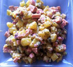 Salade+pommes+de+terre,+cornichons+et+cevelas+sauce+moutarde-balsamique