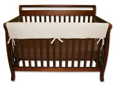 "$17.59-$21.95 Baby Trend Lab CribWrap Convertible Crib Long Rail Cover NaturalNatural Fleece CribWrap Convertible Crib Rail Cover-51""-for use on front rail. Protect your baby, and protect your crib investment from teeth marks. Just wrap and tie on. Safer solution is lightly padded with a waterproof layer. Machine washable in super soft Sherpa fleece. 1 piece included.Please line dry, do not mach ..."