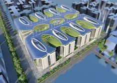 n the heart of this New Cairo, the «Gate Residence Modern Architecture Design, Green Architecture, Futuristic Architecture, Building Architecture, Vincent Callebaut, Futuristic Home, Bathroom Plans, Energy Efficient Homes, High Rise Building