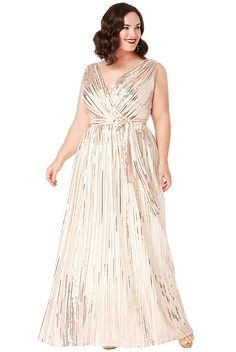 77fd851f17a3 Krémové společenské šaty s flitry City Goddess Afrodita Aphrodite
