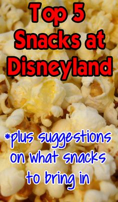 The best snacks to buy at Disneyland, what to bring in, what NOT to bring in and where to shop near Disneyland for snacks.