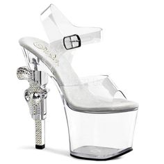 5e8ff0faaa04 REVOLVER-708 Pleaser Sexy 7 Inch Bling Embellished Platform Strippers  Sandals