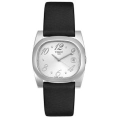 Tissot Women's T0093101703701 T-Moment Black Fabric Watch Tissot. $276.50. Precise, high-quality Swiss-Quartz movement. Silver-tone dial with silver-tone hands; Stainless steel case back. Scratch-resistant sapphire crystal; Stainless steel case; Black fabric strap. Water-resistant to 99 feet (30 M). Date function. Save 26% Off!