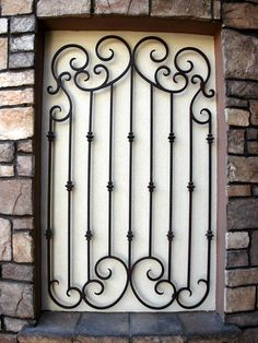 Classic wrought iron windows