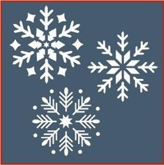 Christmas Stencils, Christmas Snowflakes, Christmas Crafts, Christmas Decorations, Christmas Ornaments, Christmas Stockings, Stencil Templates, Stencil Patterns, Craft Stencils