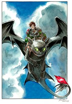 Hiccup and Toothless by DanielGovar on @DeviantArt
