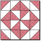 Pinwheel block: Mosaic 2 how-to  From quilterscache.com