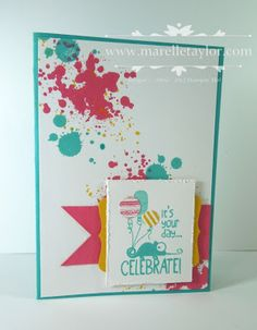 Marelle Taylor Stampin' Up! Demonstrator Sydney Australia: Grungy Lizard, gorgeous grunge, crushed curry,bermuda bay, strawberry slush decorative label punch, 1/2 in and ittybitty circle punches