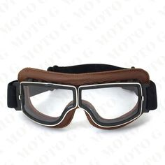 bfaaa68f68 MJMOTO NEW WWII Vintage Harley style motorcycle gafas motocross moto goggles  Scooter Goggle Glasses Aviator Pilot Cruiser
