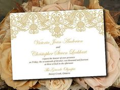 chantilly lace invitation - Google Search