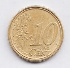 ITALY European Union  10  Cents 2002  GREAT ERROR - The coin have a double ring.