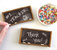 DIY Toothpick Engraved Chocolate Bar Chalkboards