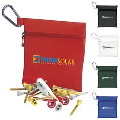 60368 - Champion Golf Jumbo Zipper Pack - Value Pak Hermes Kelly, Golf Bags, Champion, Packing, Zipper, Spikes, Tees, Markers, Swag