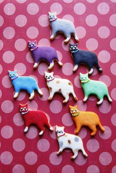 Biscoitinhos coloridos para o lanche da tarde ♥