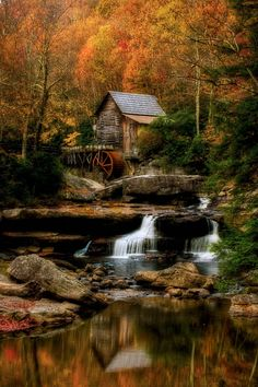 ~~Glade Creek | magical autumn at the grist mill, Babcock State Park, West Virginia by Robert Melgar~~