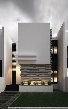 Modern Home Minimalis Cubist Complex Design Ideas in Kuwaiti Residences House Front Design, Modern House Design, Contemporary Design, Facade Design, Exterior Design, House Elevation, Facade House, House Facades, Modern Exterior