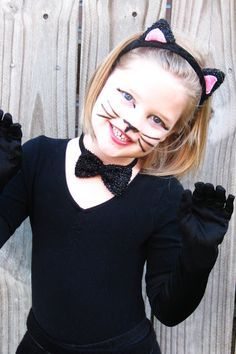 easy cat costume makeup child - Google Search