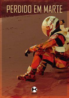Cartaz Perdido em Marte - Low poly