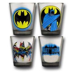 Batman Collage Shot Glass Set