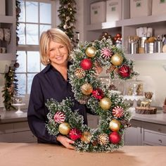 Martha Stewart's Monogram Wreath - 20 Jaw-Dropping DIY Christmas Party Decorations | GleamItUp