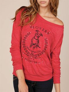 Pit Bull Lover Not A Fighter Eco Slouchy Long Sleeve by KindLabel, $40.00