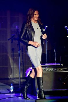 Pin for Later: Caitlyn Jenner Hits the Stage at Boy George's Concert — See Her Gorgeous Snaps!