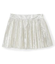 Metallic Pleated Woven Skirt - Aeropostale