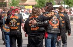 Founded in San Antonio, TX in 1966 The Bandidos are among the more notorious of American Motorcycle Clubs. The gang's patch bears a cartoon-ishly obese Mexican wearing a large sombrero and carrying a machete in one hand and a pistol in the other.