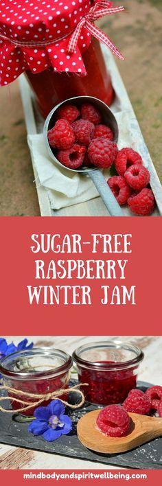 sugar-free raspberry winter jam recipe!