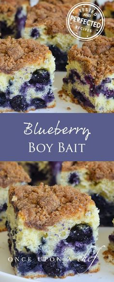 This Blueberry Coffee Cake (endearingly known as Boy Bait) is a delicious and versatile cake recipe - you can even have it for breakfast for a special occasion!  #breakfastrecipes #testedandperfected