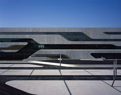Completed in 2012 in Montpellier, France. Images by Helene Binet . The pierresvives building for the department de l'Herault is the unification of three institutions - the archive, the library and the sports. Architecture Images, Futuristic Architecture, Facade Architecture, Arquitectos Zaha Hadid, Zaha Hadid Architects, Montpellier, Facade Pattern, Architectural Engineering, Futuristic Interior