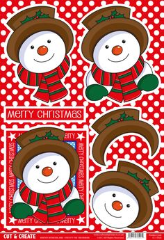 Buzzcraft Christmas Cut & Create - Winter Wonderland - Frosty the Snowman Christmas Decoupage, 3d Christmas, Christmas Cards To Make, Christmas Images, Christmas Decorations To Make, Xmas Cards, Christmas Projects, Vintage Christmas, Frosty The Snowmen